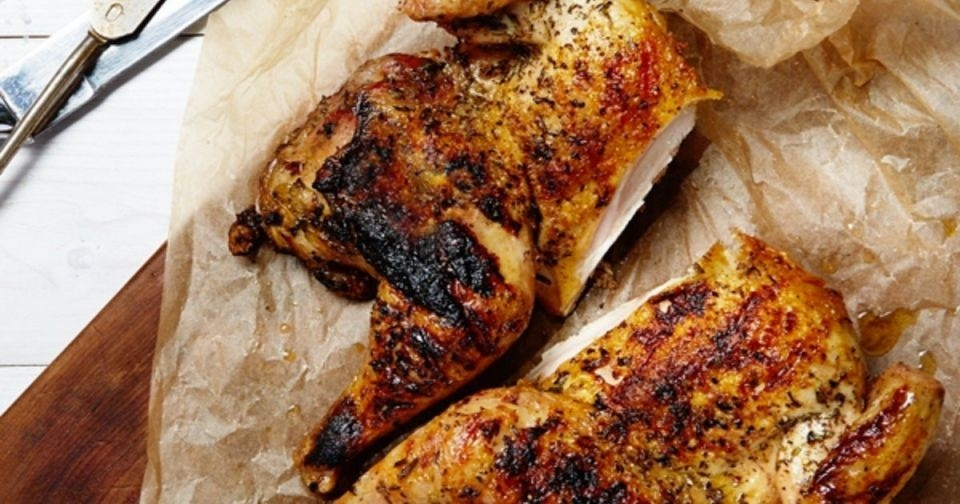 Smoky Paprika-Grilled Butterflied ChickenIngredients- 1 Pasturebird chicken (approximately 2.5 lbs)- 1 teaspoon salt, to taste- 1 teaspoon ground pepper, to taste- 2 tablespoons smoked paprika- 5 garlic cloves, coarsely chopped- ¼ cup olive oil- ¼ cup sherry vinegar- 2-3 green onion stems, choppedPreparation1. Thaw your frozen chicken by placing it in a large bowl. Fill the bowl with cool water (not hot water, that'll just awkwardly cook the outside half-inch of your chicken), and let it thaw for a few hours.2. While it's thawing, you can make the marinade. Combine the olive oil, sherry vinegar, chopped garlic and green onion, paprika, salt, and pepper into a large resealable plastic bag (or a baking dish).3. Once chicken is thawed, add it to the marinade. Seal the bag or cover the dish, and refrigerate overnight (or at least three hours. The longer the better).4. When your chicken is thoroughly marinated, preheat your grill to medium.5. While it's preheating, remove the chicken from marinade and discard the marinade.6. Place chicken on the grill. This is where the fact that it's butterflied, comes in handy. The breasts take longer to cook, and having the chicken lie flat puts the breasts closer to direct heat. Put the hood down and grill for 15 minutes.7. After 15 minutes, flip the chicken and grill on the other side for about 20-25 minutes. What you're looking for is for an instant-read thermometer inserted into the thickest part of the breast, close to the bone, reads about 160 degrees. This can take as long as 50 minutes, but check!At that...